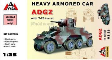 Heavy Armored Car ADGZ with T-26 turret( field mod) · AMG 35506 ·  AMG · 1:35