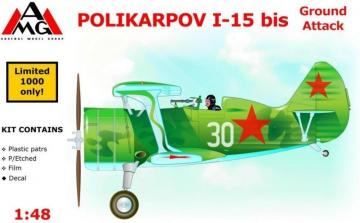 Polikarpov I-15 bis ground attack aircraft · AMG 48303 ·  AMG · 1:48
