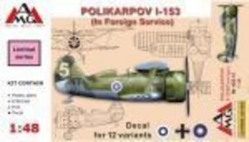Polikarpov I-153 PVRD (in Foreign service) · AMG 48310 ·  AMG · 1:48