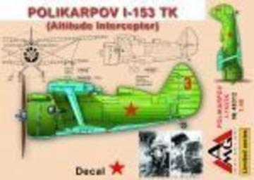 Polikarpov I-153 TK (altitude interceptor) · AMG 48312 ·  AMG · 1:48