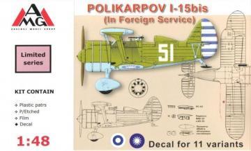 Polikarpov I-15bis (in Foreign service) · AMG 48313 ·  AMG · 1:48