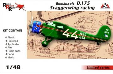 Beechcraft D.17S Staggerwing racing · AMG 48503 ·  AMG · 1:48