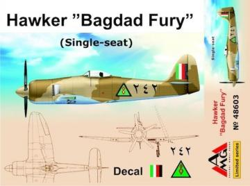 Hawker Bagdad Fury (Single seat) · AMG 48603 ·  AMG · 1:48
