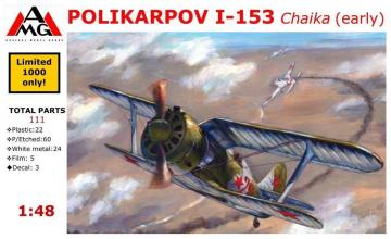 Polikarpov I-153 Chaika (early) · AMG A48204 ·  AMG · 1:48