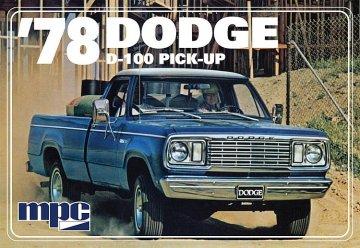 1978er Dodge D100 Custom Pick-up · AMT 0901 ·  AMT/MPC · 1:25