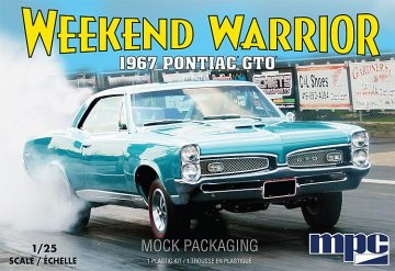 1967er Pontiac GTO, 2T   · AMT 0918 ·  AMT/MPC · 1:25