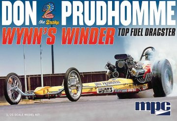 Don Snake Prudhomme Wynn`s Winder Dragster · AMT 0921 ·  AMT/MPC · 1:25