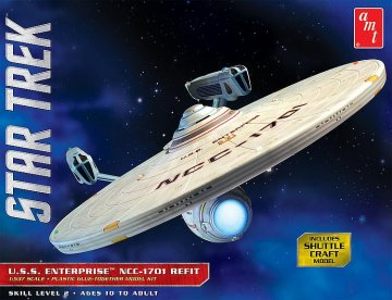 Star Trek USS Enterprise - Refit · AMT 1080 ·  AMT/MPC · 1:537
