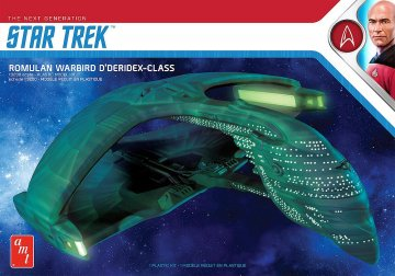 Star Trek Romulan Warbird · AMT 1125 ·  AMT/MPC · 1:3200