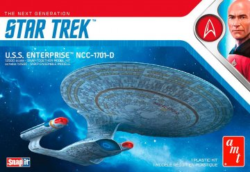 Star Trek USS Enterprise-D · AMT 1126 ·  AMT/MPC · 1:2500