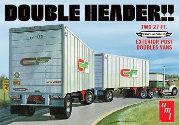 Double Header Tandem Van Trailer · AMT 1132 ·  AMT/MPC · 1:25