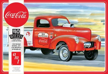 Willys Pickup Gasser Coca-Cola · AMT 1145 ·  AMT/MPC · 1:25