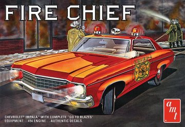 1970er Chevy Impala Fire Chief · AMT 1162 ·  AMT/MPC · 1:25