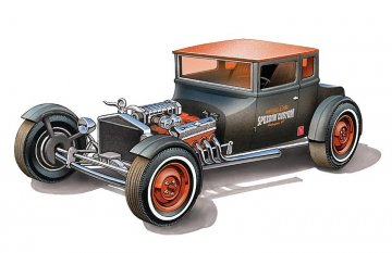 1925er Ford T Chopped · AMT 1167 ·  AMT/MPC · 1:25