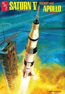 Saturn V Rakete mit Apollo-Kapsel · AMT 1174 ·  AMT/MPC · 1:200