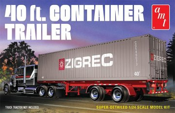 40ft Semi Container Trailer · AMT 1196 ·  AMT/MPC · 1:25