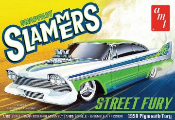 1958 Plymouth Street Fury Slammers · AMT 1226 ·  AMT/MPC · 1:25