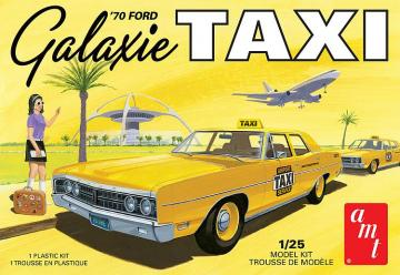 1970er Ford Galaxie Taxi · AMT 1243 ·  AMT/MPC · 1:25