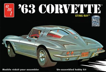 1963er Chevy Corvette Sting Ray · AMT 1861 ·  AMT/MPC · 1:25