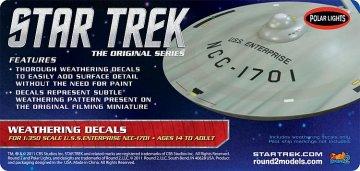 Star Trek USS Enterprise Weathering Decals · AMT 2008 ·  AMT/MPC · 1:350