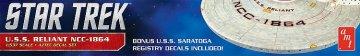Star Trek U.S.S. Reliant Aztec Decals · AMT 2021 ·  AMT/MPC · 1:537