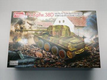 Pz.Kpfw.38D mit Pz.IV Turm 8cm PAW 600 · AMU 35A019 ·  Amusing Hobby · 1:35