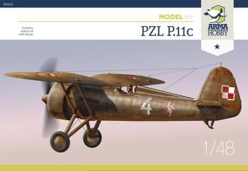 PZL P.11c · ARM 40002 ·  Arma Hobby · 1:48
