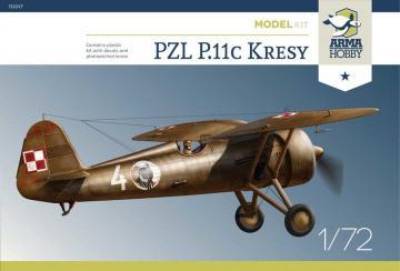 PZL P.11c Kresy Model Kit · ARM 70017 ·  Arma Hobby · 1:72