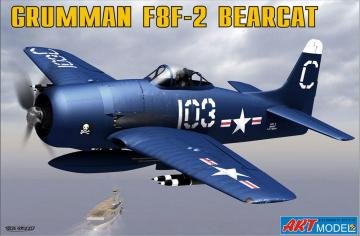 Grumman F8F-2 BEARCAT USAF carrier · ARM 7201 ·  Art Model · 1:72