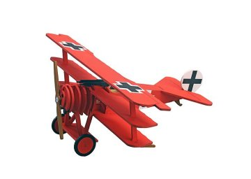 Flugzeug, Fokker DR.I · ART 0528 ·  Artesania Latina