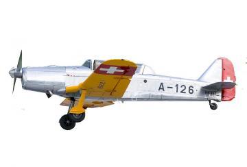 Pilatus P-2-05 A-126 Gelb/Aluminium (1949) · ARW 881550 ·  Arwico Collector Edition · 1:72