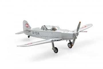 Pilatus P-2-05 A-124 Silber/Aluminium (1963) · ARW 881551 ·  Arwico Collector Edition · 1:72