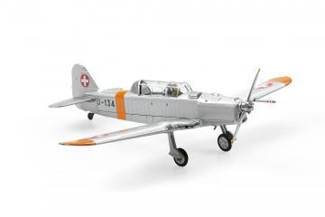 Pilatus P-2-06 U-134 Orange/Alu Dübendorf (1970) · ARW 881552 ·  Arwico Collector Edition · 1:72