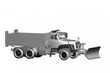 Saurer D330N 6x6 Kipper Militär mit Schneeräumer · ARW 882331 ·  Arwico Collector Edition · 1:87