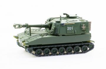 Panzerhaubitze M-109 Jg 66 Kurzrohr unifarbig, Nr. 201 · ARW 885010 ·  Arwico Collector Edition · 1:87