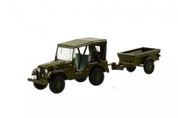 Willys M38A1 Armee-Jeepmit Aebi Gelpw Anh 68 · ARW 885102 ·  Arwico Collector Edition · 1:87