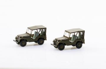 Set mit 2 Willys M38A1 Armee-Jeep · ARW 885105 ·  Arwico Collector Edition · 1:87