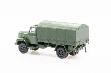 Saurer 2DM Militärlastwagen Plane geschlossen · ARW 885150 ·  Arwico Collector Edition · H0