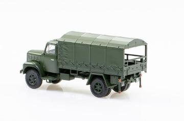 Saurer 2DM Militär Plane hinten/seitlich offen · ARW 885151 ·  Arwico Collector Edition · H0