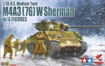 M4A3(76)W Sherman w/ Figures · AKM 35048 ·  Asuka · 1:35