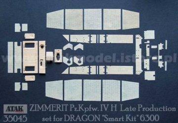 "PzKpfw IV H Late Production (1) ""DRAGON"" Smart Kit 6300 · AT 35045 ·  Atak Model · 1:35"