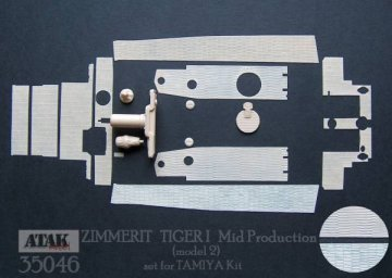 """TIGER I Mid Production (2) """"TAMIYA"""" · AT 35046 ·  Atak Model · 1:35"""
