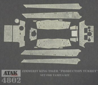 KING TIGER Production Turret · AT 4802 ·  Atak Model · 1:48