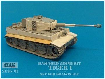 Damaged Zimmerit TIGER I 101PzAbt · AT SE3501 ·  Atak Model · 1:35