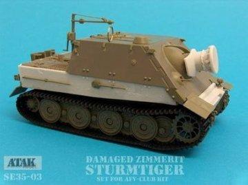 Damaged Zimmerit STURMTIGER · AT SE3503 ·  Atak Model · 1:35