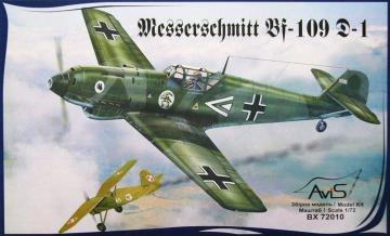 Messerschmitt Bf 109 D-1 WWII German fighter · AVIS 72010 ·  Avis · 1:72