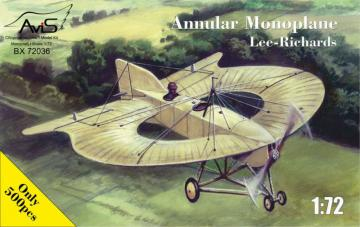 Lee-Richards Annular monoplane · AVIS 72036 ·  Avis · 1:72