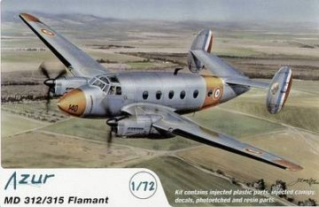 MD 312/315 Flamant · AZU A028 ·  Azur · 1:72
