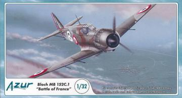 Bloch MB 152C.1 Battle of France · AZU A060 ·  Azur · 1:32
