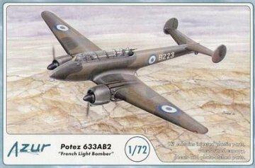 Potez 633 French Light Bomber · AZU A085 ·  Azur · 1:72